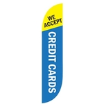 'We Accept Credit Cards' Carwash Advertising Flag