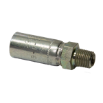 "Crimp Male 3/8"" x 1/4"" M NPT Nickel Plated"