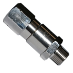 "Swivel Mosmatic Straight S/Steel 3/8""M x 3/8""F NPT"