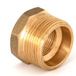"Bush Reducing 1 1/4""NPTx3/4""NPT Brass"
