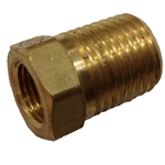 "Bush Reducing 1/4""NPTx1/8""NPT Brass"