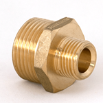 "Nipple Reducing 1""NPT x 1/2""NPT Brass"