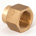 "Socket Reducing 1""NPT x 3/4""NPT Brass"