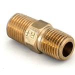"Nipple Hex 1/4""M/NPT x 1/4""M/NPT Brass"