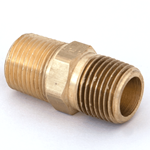 "Nipple Hex 1/2""M/NPT x 1/2""M/NPT Brass"