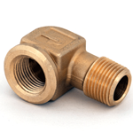 "Elbow 3/8""M/NPT x 3/8""F/NPT Brass"
