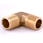 "Elbow 1/2""M/NPT x 1/2""M/NPT Brass"