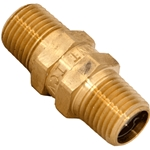 "Check Valve 1/2"" Male Brass with S/Steel Circlip"