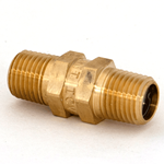 "Check Valve 1/4"" Male Brass with S/Steel Circlip"