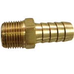 "Hose Barb 1/2""H x 3/8""NPT Male Brass"