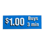 Decal '$1 Buys 3 mins' Blue
