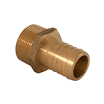 "Barb Fitting 1-1/4""M x 1-1/4"" Brass"