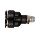 "Connector Male Stem Y 3/8"" Tube x 1/4"" BSPT"