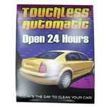 "Windmaster Sign Insert ""Touchless Automatic"""