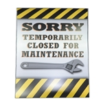 "Windmaster Sign Insert ""Closed for Maintenance"""