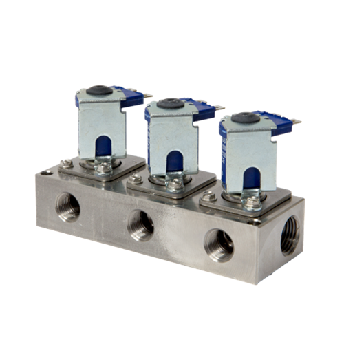 """Solenoid DEMA 3 Station 1/2"""" Stainless"""