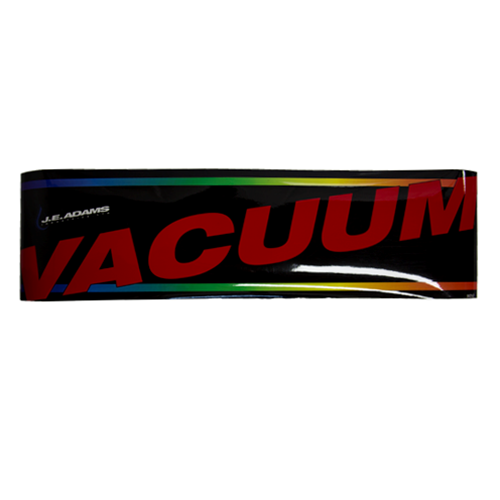 Decal JE Adams Vacuum Dome