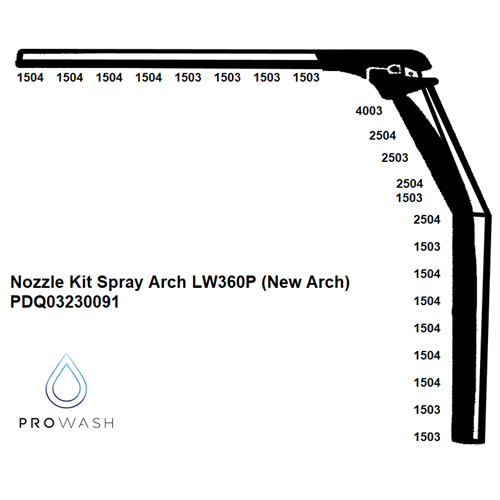 Nozzle Kit Spray Arch LW360P (New Arch)