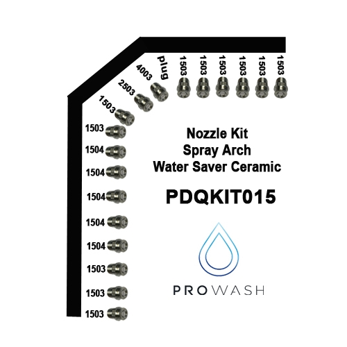 Nozzle Kit Spray Arch Water Saver Ceramic