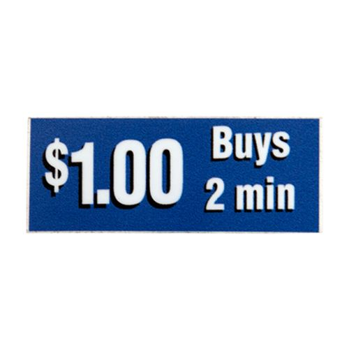 Decal '$1 Buys 2 mins' Blue