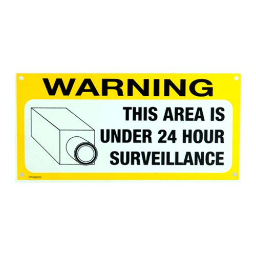 Sign 'Under 24Hr Surveillance'