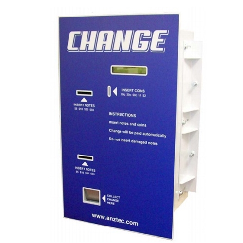 Change Machine ANZTEC QC5604 with 2 Mars Note Acceptors