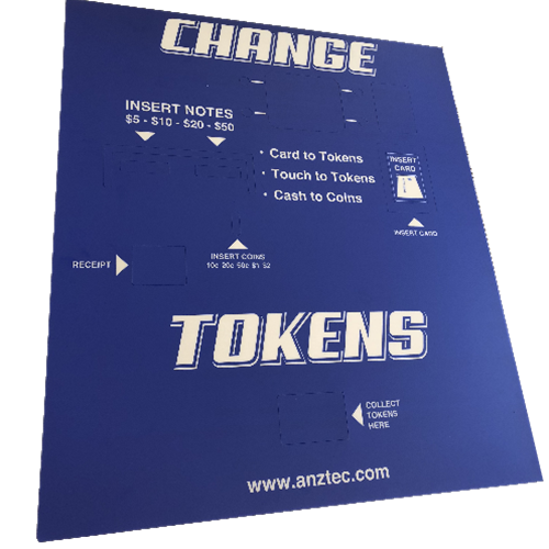 Decal for QC7600 Change Machine