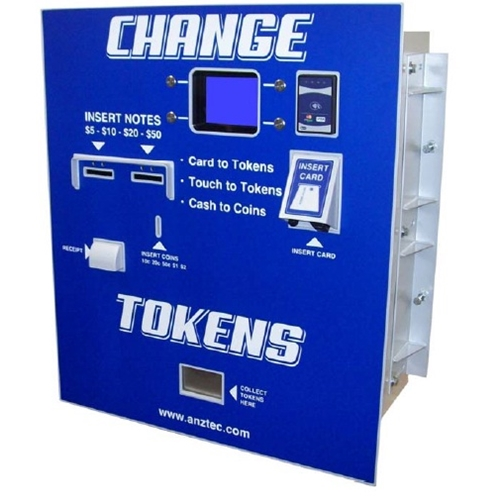 Change Machine 7600 with Credit Card and Token Function