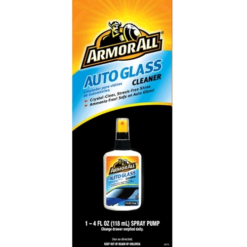 Decal  Armor All 4oz Glass Cleaner Flat Bottle