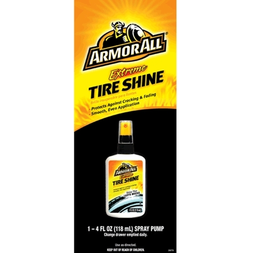 Decal  Armor All 4oz All Extreme Tyre Shine Flat Bottle