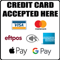 Decal CT400 - Credit Cards Accepted Here 8.5 cm x 8.5 cm